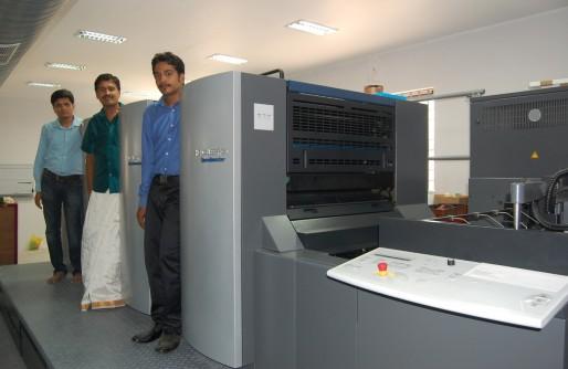 Tiruvannamalai's Subam Printers installs a brand new Heidelberg Speedmaster SM 74 Four colour press