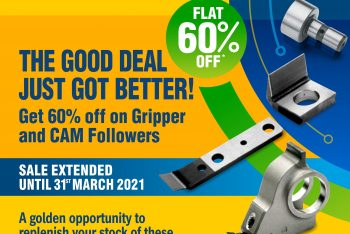 Mega Sale – Flat 60% Off on Gripper and Cam Followers